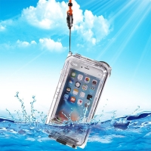 Pouzdro vodotěsné pro Apple iPhone 6 Plus / 6S Plus s odolností do 40m hloubky (IPX8) - průhledné / černé
