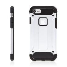 Kryt pro Apple iPhone 7 / 8 plasto-gumový / antiprachová záslepka - stříbrný