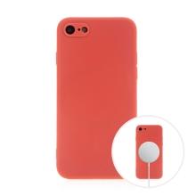 Kryt pro Apple iPhone 7 / 8 / SE (2020) - MagSafe magnety - silikonový - červený