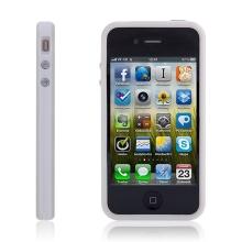 Ochranný rámeček / bumper pro Apple iPhone 4 s tlačítky ovládání - bílý