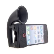 Přenosný stojánek s reproduktorem pro Apple iPhone - černý