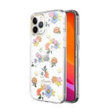 Kryt KINGXBAR pro Apple iPhone 12 / 12 Pro - s kamínky - gumový / plastový - květiny