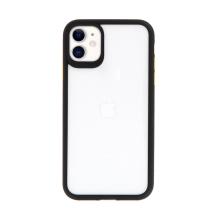 Kryt USAMS Janz pro Apple iPhone 11 - plastový / gumový - průhledný / černý