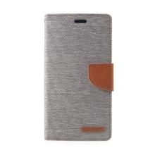 Pouzdro Mercury Goospery pro Apple iPhone Xr - stojánek a prostor pro platební karty - šedo-hnědé