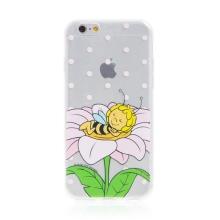 Kryt včelka Mája - pro Apple iPhone - 6 / 6S - gumový - průhledný - zasněná Mája