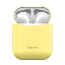 Pouzdro / obal BASEUS pro Apple AirPods - silikonové - žluté