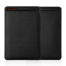 """Pouzdro / obal pro Apple iPad velikosti 9,7 """" / 10,2"""" / 10,5"""" - kapsa na Apple Pencil - umělá kůže - černé"""