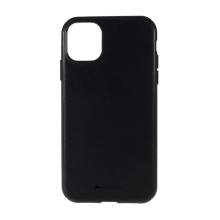 Kryt MERCURY Style Lux pro Apple iPhone 11 - látková textura - gumový - černý