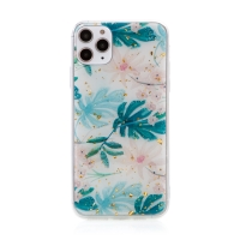 Kryt FORCELL pro Apple iPhone 11 Pro - zlaté úlomky - gumový / plastový - listy a květy