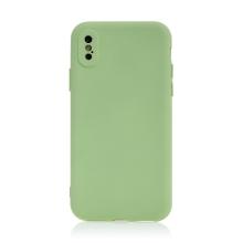 Kryt pro Apple iPhone X / Xs - příjemný na dotek - silikonový - zelený