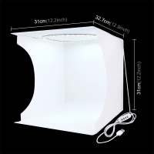 Fotostan PULUZ / Light box / softbox - bílý - LED osvětlení - 30cm