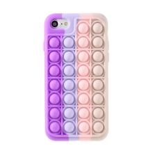 """Kryt pro Apple iPhone 7 / 8 / SE (2020) - bubliny """"Pop it"""" - silikonový - růžový / fialový"""