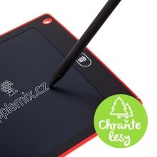Tablet / tabulka na psaní a kreslení - rychlé smazání - červená