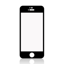 Tvrzené sklo (Tempered Glass) pro Apple iPhone 5 / 5S / 5C / SE - černý rámeček - 0,3mm
