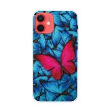 Kryt pro iPhone 12 / 12 Pro - gumový - modří motýli