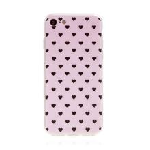 Kryt BABACO pro Apple iPhone 7 / 8 / SE (2020) - gumový - srdíčka - růžový