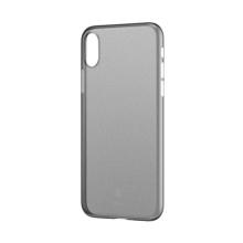 Kryt BASEUS pro Apple iPhone X - ultratenký - plastový - šedý