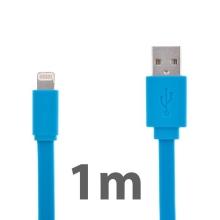 Synchronizační a nabíjecí kabel Lightning pro Apple iPhone / iPad / iPod - noodle style - modrý