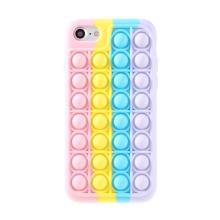 """Kryt pro Apple iPhone 7 / 8 / SE (2020) - bubliny """"Pop it"""" - silikonový - duhový"""