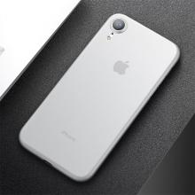 Kryt CAFELE pro Apple iPhone Xr - ultratenký - plastový - matný - bílý