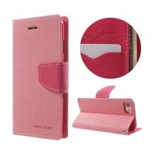 Pouzdro Mercury Fancy Diary pro Apple iPhone 7 / 8 - stojánek a prostor na doklady - růžové