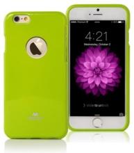 Kryt Mercury pro Apple iPhone 6 Plus / 6S Plus gumový s výřezem pro logo - jemně třpytivý - zelený