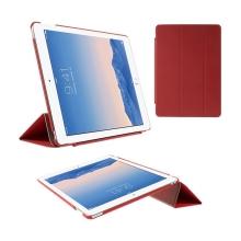 Pouzdro / obal pro Apple iPad Air 2 - funkce uspání a probuzení / stojánek / výřez pro logo - červené