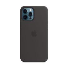 Originální kryt pro Apple iPhone 12 Pro Max - silikonový - černý