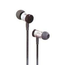 Sluchátka SWISSTEN pro Apple zařízení - špunty - ovládání + mikrofon - kov / guma - černá