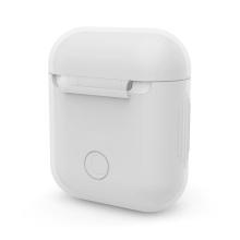 Pouzdro / obal pro Apple AirPods - tenké - silikonové - bílé