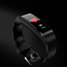 Sportovní fitness náramek - tlakoměr / krokoměr / měřič tepu - Bluetooth - vodotěsný - černý