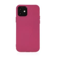 Kryt pro Apple iPhone 12 / 12 Pro - příjemný na dotek - silikonový - vínový