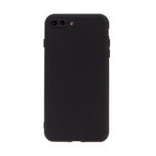 Kryt pro Apple iPhone 7 Plus / 8 Plus - příjemný na dotek - silikonový - černý