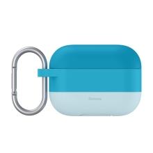 Pouzdro / obal BASEUS pro Apple AirPods Pro - silikonové - barevný přechod - modré