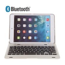 Klávesnice Bluetooth 3.0 s krytem pro Apple iPad mini / mini 2 / mini 3 - stříbrná