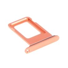 Rámeček / šuplík na Nano SIM pro Apple iPhone Xr - korálový (Coral) - kvalita A+