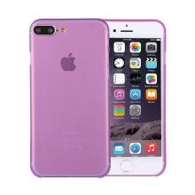 Kryt / obal pro Apple iPhone 7 Plus / 8 Plus ochrana čočky - plastový / tenký - fialový