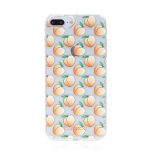 Kryt BABACO - pro Apple iPhone 7 Plus / 8 Plus - gumový - průhledný - broskvičky