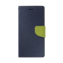 Pouzdro Mercury Fancy Diary pro Apple iPhone Xr - stojánek a prostor na doklady - modré / zelené