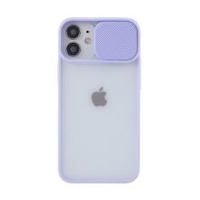 Kryt pro Apple iPhone 12 / 12 Pro - matná záda - krytka fotoaparátu - plastový / gumový - fialový