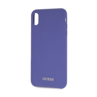 Kryt GUESS Silicone pro Apple iPhone Xr - silikonový - modrý