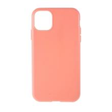 Kryt MERCURY Style Lux pro Apple iPhone 11 - látková textura - gumový - růžový