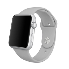Řemínek pro Apple Watch 40mm Series 4 / 5 / 6 / SE / 38mm 1 / 2 / 3 - velikost S / M - silikonový - šedý