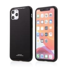 Kryt FORCELL Glass pro Apple iPhone 11 Pro Max - gumový / skleněný - černý