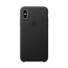 Originální kryt pro Apple iPhone Xs Max - kožený - černý