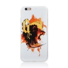 Kryt Harry Potter pro Apple iPhone 6 / 6S - gumový - lev Nebelvíru - bílý