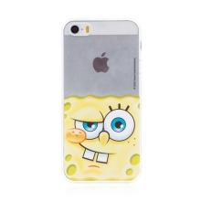 Kryt Sponge Bob pro Apple iPhone 5 / 5S / SE - gumový - potutelný Sponge Bob