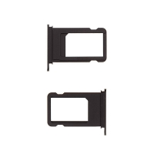 Rámeček / šuplík na Nano SIM pro Apple iPhone 7 Plus - temně černý (Jet Black) - kvalita A+
