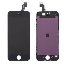 LCD panel + dotykové sklo (touch screen digitizér) pro Apple iPhone 5C - černý - kvalita A