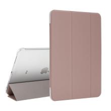 """Pouzdro / kryt pro Apple iPad Pro 11"""" (2018) - funkce chytrého uspání + stojánek - Rose Gold / průsvitná záda"""